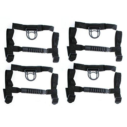 Danti 4 x Grab Handles Grip Handle For Jeep Wrangler YJ TJ JK JKU Sports Sahara Freedom Rubicon X & Unlimited X 2/4 door Roll Bar 1995-2016