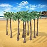 Alcoa Prime 10 Pcs Model Train Palm Trees Forest Beach Diorama Scenery 1:65 HO OO 14CM