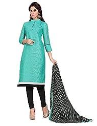 Mantra Fashion New Designer Havy Embroidery Light Blue And Black And Havy Printed Dupatta Chudidar Style Salwar...