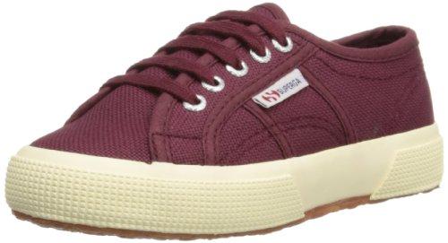 SUPERGA 2750 JCOT CLASSIC - Zapatos de cordones de lona para niño rojo rojo, color rojo, talla 28 EU/10 UK...