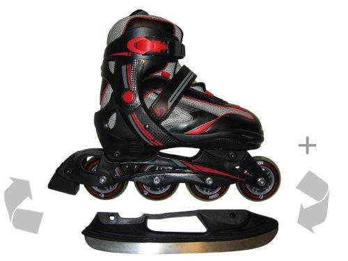 Jugend Schlittschuhe & Inline Skates Rollschuhe 40-43 2in1-Multiskate Mod. 2014