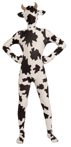 Women's Teen Disappearing Man Body Suit Costume Spotted Cow