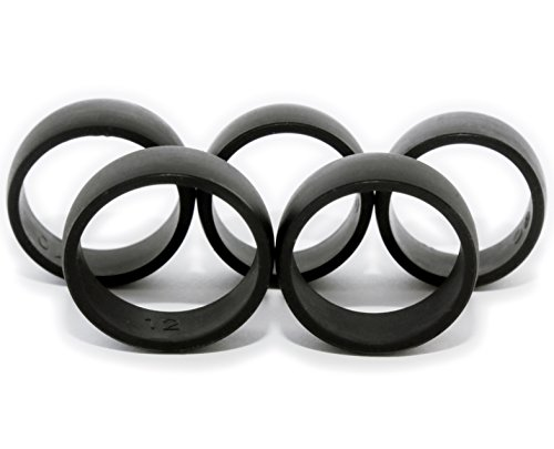 5 Silicone Wedding Rings Men's Sizes 8,9,10,11,12.