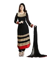 SHARMILI Women's Georgette Straight Salwar Suit