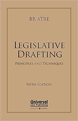 Legislative Drafting: Principles and Techniques