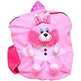 Vpra Mart Bear Cute Teddy Soft Toy School Bag For Kids, Travelling Bag, Carry Bag, Picnic Bag, Teddy Bag (Pink)