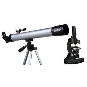 Vivitar 20-Piece Microscope and Telescope Combo Bundle