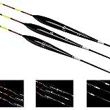 3PCS Fishing Floats Bobbers Balsa #U Tackle Tool Lightweight With Box Carp Perch