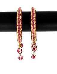 Anuradha Art Pink Colour Classy Designer Royal Kada Styled Ethnic Bangles Set For Women/Girls