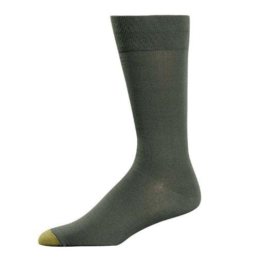 Gold Toe Men's ADC Aquafx Jersey Dress Sock, Olive