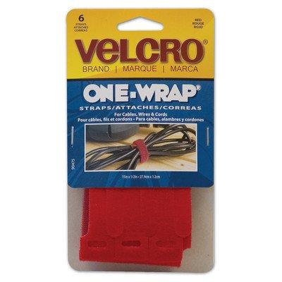Velcro Usa Consumer Pdts 90475 6-Pack 1/2 x 11-Inch Red Velc