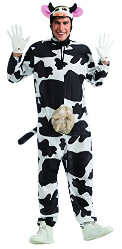 Rubie's Costume Comical Cow Costume, Black/White, Standard