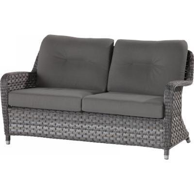4 Seasons Outdoor Eldorado 2.5-Sitzer Sofa Bank Polyrattan Duet Charcoal