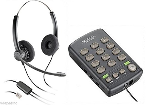 Call Center RJ9 Headset And Dialpad Plantronics Practica