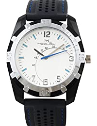 Latest Design Black Leather Belt Watch, Round White And Black Dial Analog Watch For Men's/Boys Classic Fashionable...