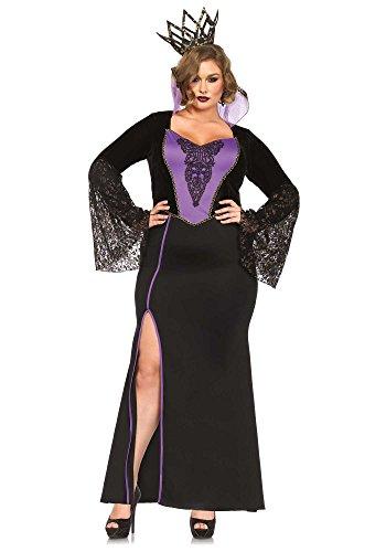 Halloween 2017 Disney Costumes Plus Size & Standard Women's Costume Characters - Women's Costume CharactersLeg Avenue Women's Plus-Size 2 Piece Evil Queen Costume, Black/Purple, (Sizes S-3X)