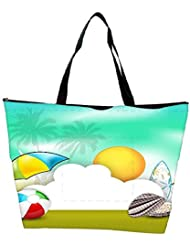 Snoogg Abstract Summer Background Waterproof Bag Made Of High Strength Nylon - B01I1KF86Q