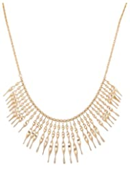Asha Woman Golden Metal Chain Necklace For Women