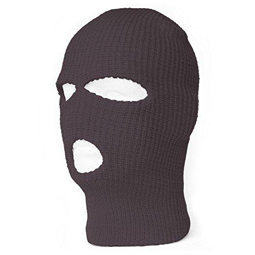 TopHeadwear's 3 Hole Face Ski Mask, Charcoal