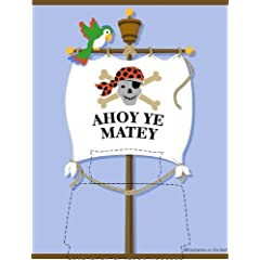 Rosenberry Rooms Ahoy Ye Matey Bedhugger Paint by Number Wall Mural