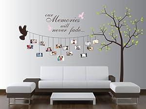Amazon.com: Large Photo Tree Wall Decal, Customizable ...