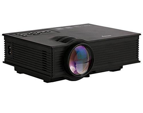 Eoncore 130 Mini LED HD Projector UC40+ Home Cinema Theater Game Projector 800 Lumens USB VGA HDMI AV SD 1080P
