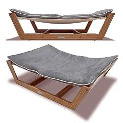 Pet Lounge Studios Bambu Hammock II (Graphite Gray Large (Up to 85 lbs))