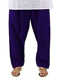 Neha Fashion Women's Cotton Salwar Patiala Pant (Navy_Blue_Free_ Size)