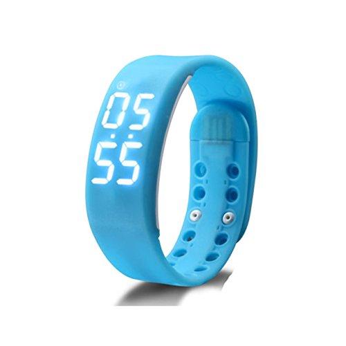 IParis Kids Wireless Activity Plus Sleep Tracker Calories Tracker Activity Tracker Fitness Band SKY BLUE - B01L1M4CNG