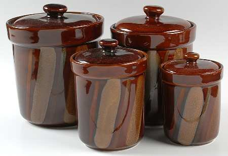 brown kitchen canister sets brown canister set 16503