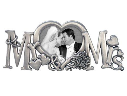 Malden Mr. & Mrs. Medal Wedding Frame, 1-Opening