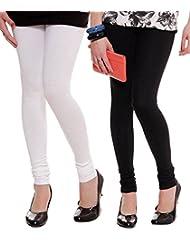 Style Acquainted People Women's Cotton Leggings (Pack Of 2) - B015J87IBG