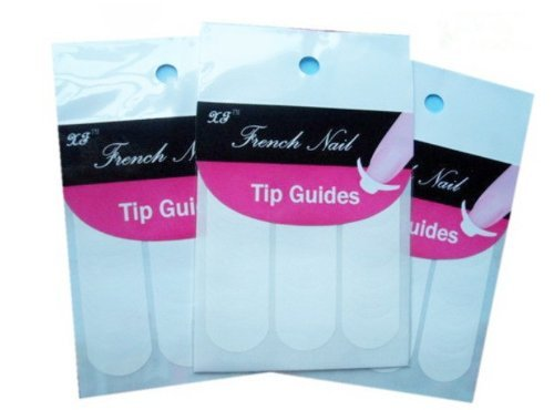 My Sky French, Chevron & Teardrop & Sharp & Round Nail Tip Guides Stickers (Pack of 5) (Style2)