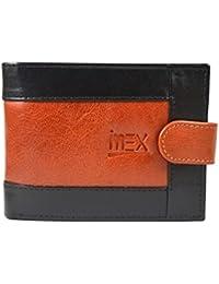 Imex Men's Black & Brown Genuine Leather Wallet