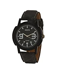 Oura Analog Round Black Dial Casual Wear Watch For Men - B019SXZZ90
