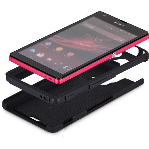 Case-Mate 日本正規品 au Xperia UL SOL22 Hybrid Tough Case, Black/Black ハイブリッド タフ ケース CM028306