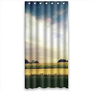Amazon.com  Wide Field Sunshine High Quality Fabric Bathroom Shower Curtain 36 x 72 Inches