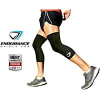 Premium Knee Compression Sleeves 2 Pcs - Ultra Lightweight Knee Sleeves For Running Hiking Basketball Working...