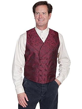 Victorian Men's Vests and Waistcoats Wide Notched Lapel Vest  AT vintagedancer.com