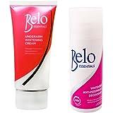 Belo Essentials Underarm Whitening Set - Whitening Roll-on Deodorant And Whitening Underarm Cream - Whitens Stubborn...