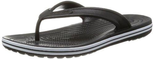 crocs Crocband LowPro Flip 15690-001-184 - Chanclas para unisex-adultos, color negro, talla 39/40
