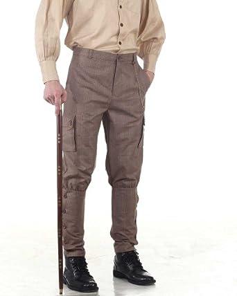 Steampunk Pants Mens Airship Pants Trousers -Checkered  AT vintagedancer.com