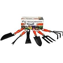 Garden Tool Kit – Best Utility Series Part 2 – (6 In 1) – By Kraft Seeds – Khurpi Medium, Trowel Big, Cultivator...