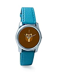 PosterGuy Dark Brown Cute Little Owl Bird Illustration Art Analog Women's Wrist Watch-2238314536-RS2-S-TEA