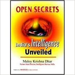 Image result for Open Secrets: India's Intelligence Unveiled
