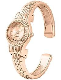 Ladies Rose Gold Tone Mini Cuff/bangle Watch