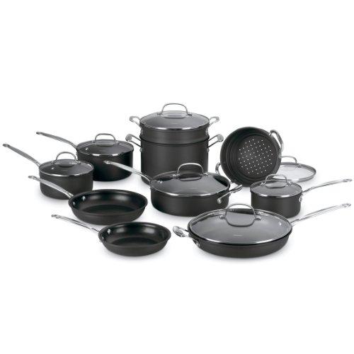 41kGyc5UVwL - Cook N Home 15-Piece Non stick Black Soft handle Cookware Set