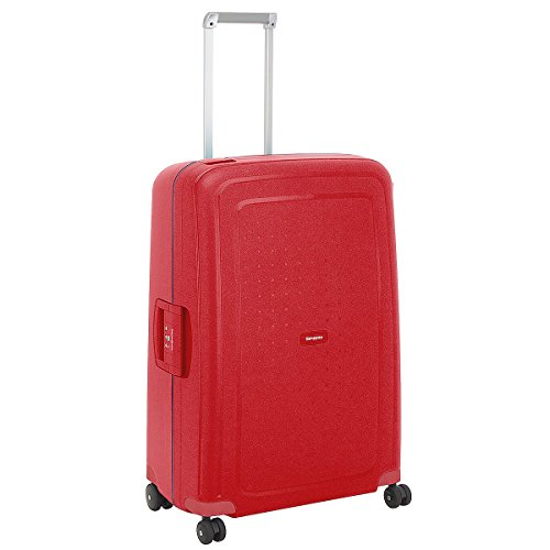 samsonite s cure spinner valise 4 roulettes 75 cm poppy red avis boutique. Black Bedroom Furniture Sets. Home Design Ideas