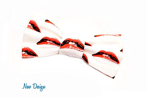 Rocky Horror Lips Bow Tie, with Adjustable Strap, Red Lips, Novlety, Rocky Horror Picture Show Lips