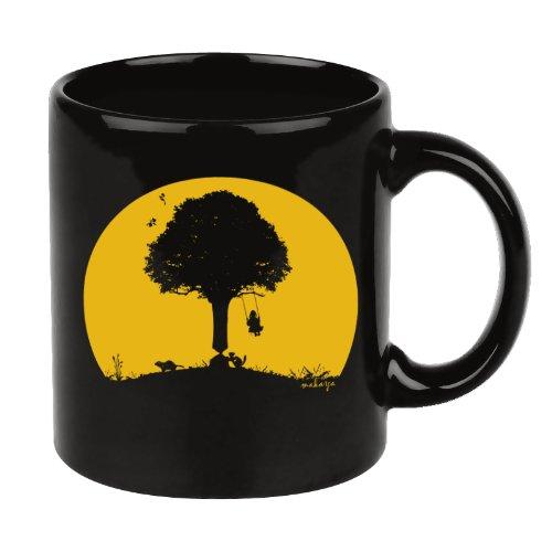 Shopping!: Tazas cafe con motivos divertidas grande color negro